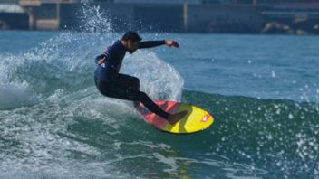Surf com/with Francisco Alves